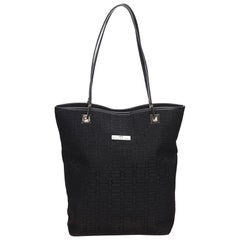 Balenciaga Black Jacquard Tote Bag