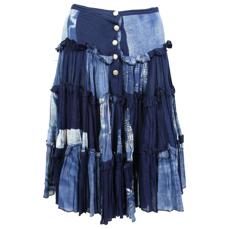 Jean Paul Gaultier Vintage Trompe L'oeil Ruffle Skirt