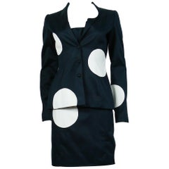 Thierry Mugler Vintage Polka Dot Bustier Dress and Blazer Suit