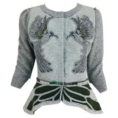 Koi Suwannagate cashmere bird applique sweater