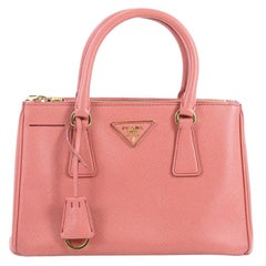 Prada Double Zip Lux Tote Saffiano Leather Mini