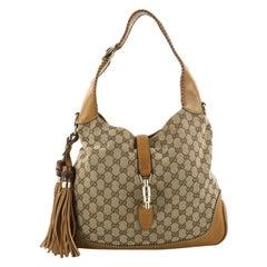 Gucci New Jackie Handbag GG Canvas Medium