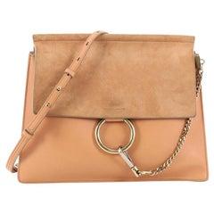 Chloe Faye Shoulder Bag Leather and Suede Medium