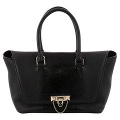 Valentino Demilune Flap Satchel Leather with Patent Small