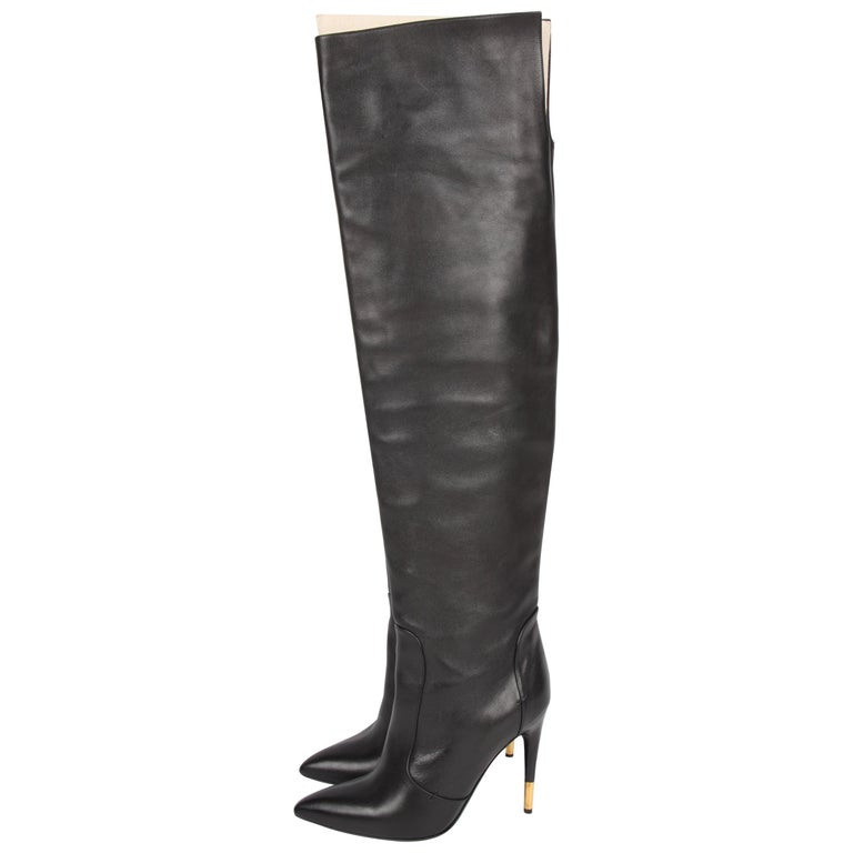 Tom Ford Knee-High Boots - black
