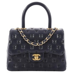 Chanel Paris-Rome Coco Top Handle Bag Cross Stitch Lambskin Small