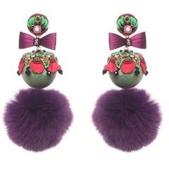 Itatiai Mink Fur Pompom Earring