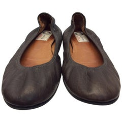 Lanvin Brown Leather Flats