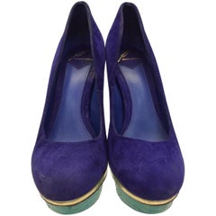 Brian Atwood Multi-Colored Suede Heels