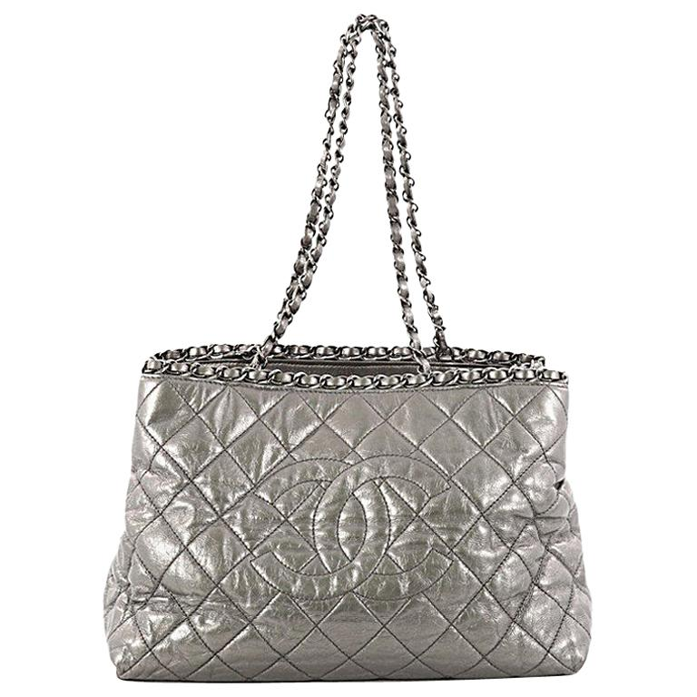 d45b525e3b0a Chanel Chain Me Tote Quilted Calfskin Medium at 1stdibs
