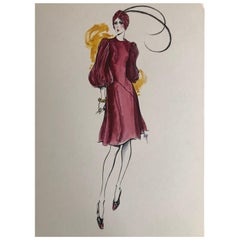 Cardinali Fashion 1970's Original Fashion Illustrations by Robert W. Richards