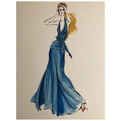 Cardinali Fashion Original Illustration by Robert W. Richards, 1970s