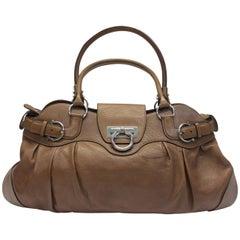 Salvatore Ferragamo Brown Leather Shoulder Bag