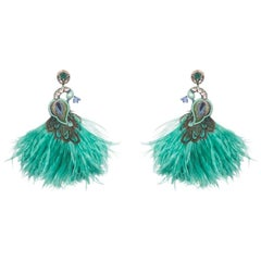 Corcovado-T Ostrich Feather Earring