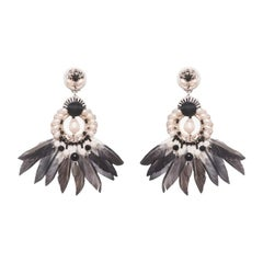 Samba Mother-of-Pearl and Coque Feather Earring