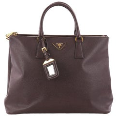 Prada Galleria Double Zip Tote Saffiano Leather Large