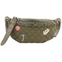 Chanel Cuba Charms Waist Bag Quilted Canvas