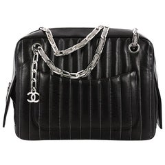 Chanel Mademoiselle Camera Bag Vertical Quilted Lambskin Medium