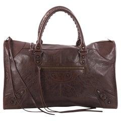 Balenciaga Work Classic Studs Handbag Leather