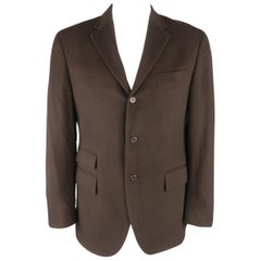 Polo Ralph Lauren Regular Brown Cashmere 3 Button Sport Coat / Jacket Blazer