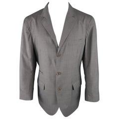 BRUNELLO CUCINELLI 42 Grey Wool / Silk Notch Lapel Sport Coat / Jacket
