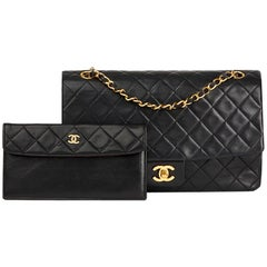 1990s Chanel Black Quilted Lambskin Vintage Tall Classic Single Flap Bag