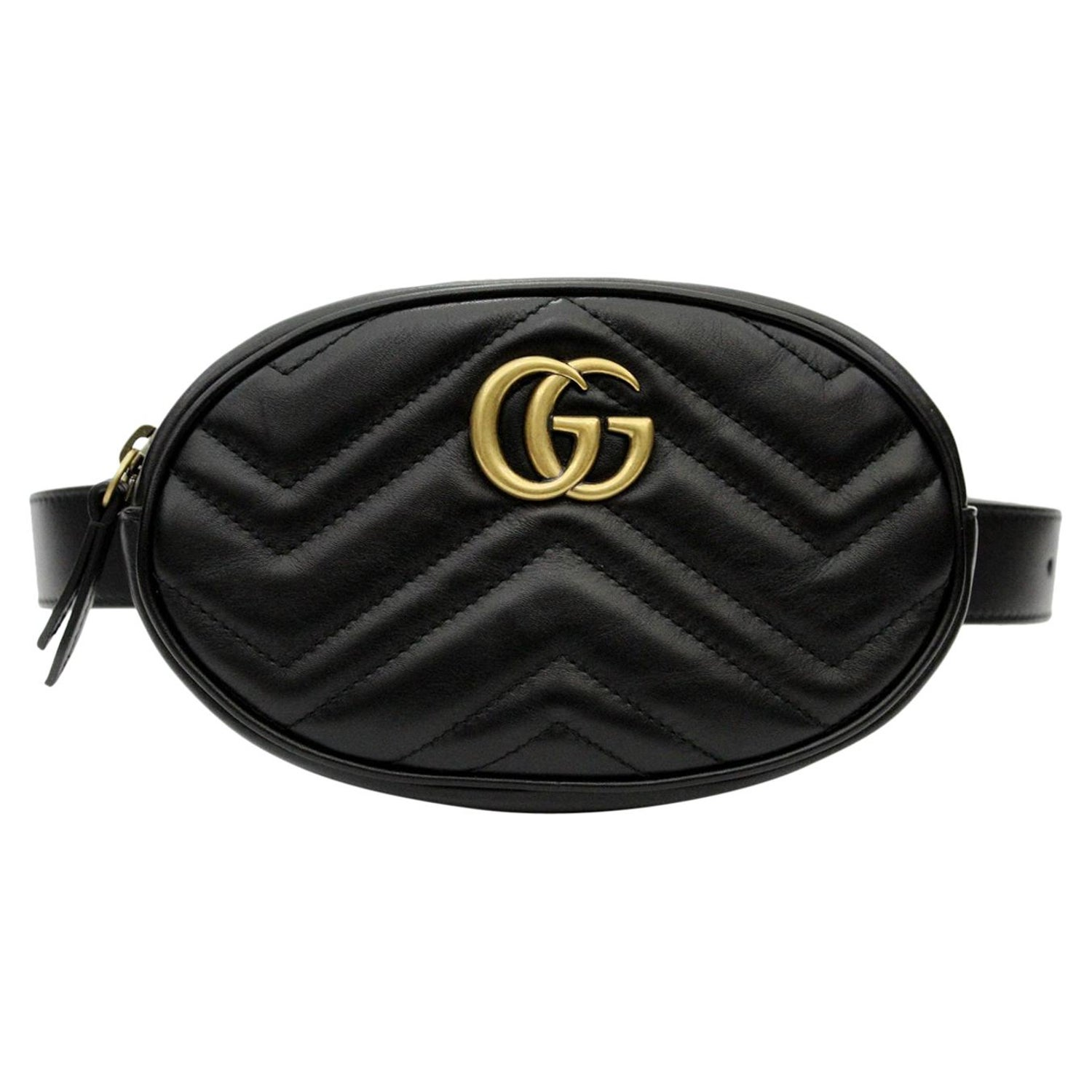 3ca0bbe7b2ca9a Gucci GG Marmont matelassé leather belt bag at 1stdibs