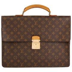 2000s Louis Vuitton Brown Monogram Coated Canvas Robusto Briefcase