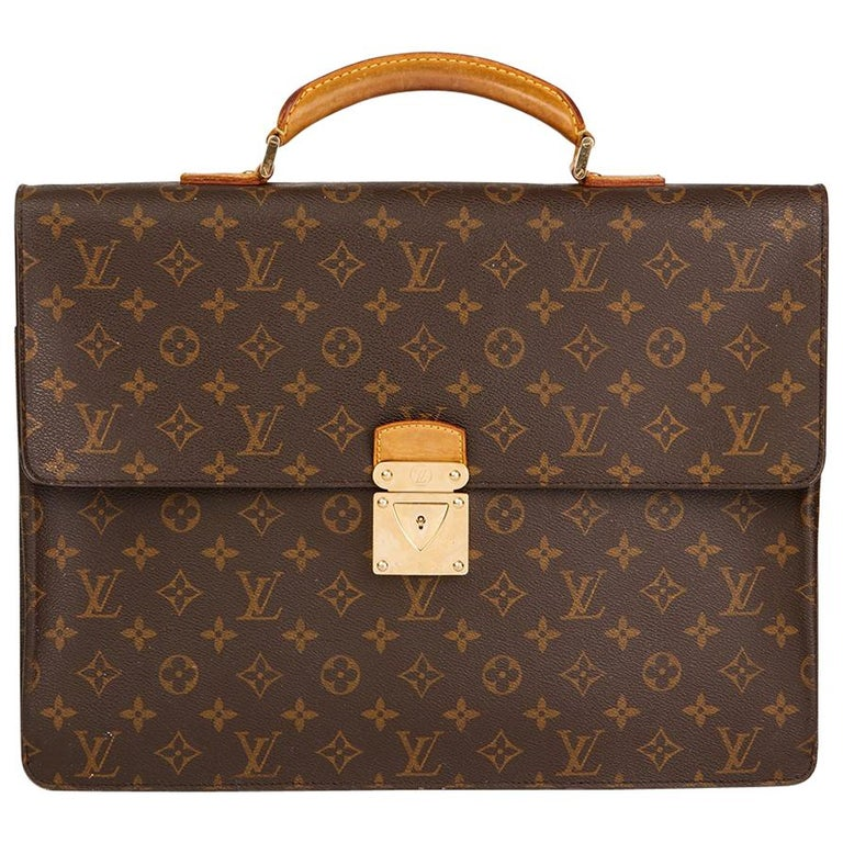 4d0e7ee89095 2000s Louis Vuitton Brown Monogram Coated Canvas Robusto Briefcase For Sale