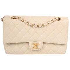 Chanel 2.55 Caviar Medium Classic Double Flap Bag - sandy beige