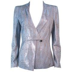 Giorgio Armani Blue Silver Grey Rhinestone Jacket