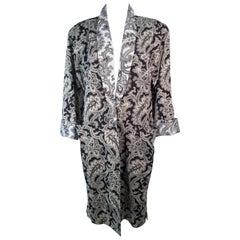 GIANNI VERSACE Vintage Black & White Venetian Coat Size 42