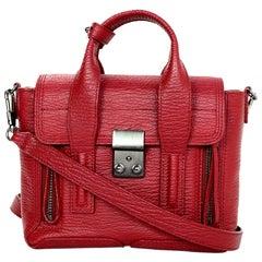 3.1 Phillip Lim Red Leather Mini Pashli Satchel Crossbody Bag