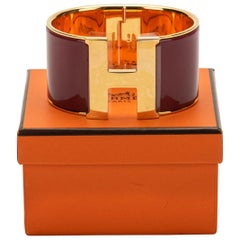 New in Box Hermes Rouge de Chine Mega Clic Clac Bracelet