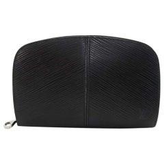 Louis Vuitton Black Epi Leather Demi lune Wallet w/ coin case