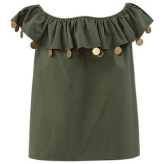 Yves Saint Laurent Ruffle Top