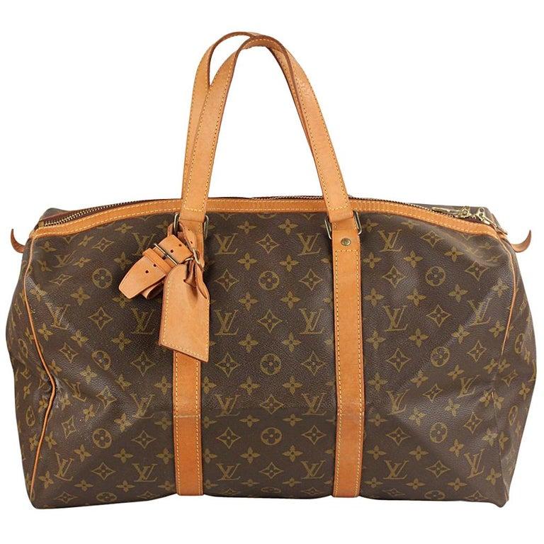 Louis Vuitton Vintage Monogram Canvas Sac Souple 45 Overnight Bag