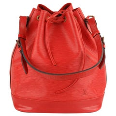 Louis Vuitton Vintage Red Epi Leather Noé Shoulder Bag