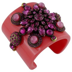 Emilion Pucci Spring Summer 2012 Jewelled Pink Resin Cuff Bracelet