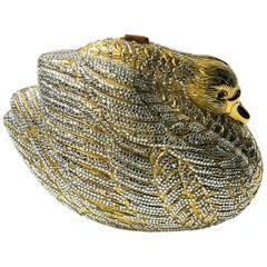 Judith Leiber Gold Swan Clutch