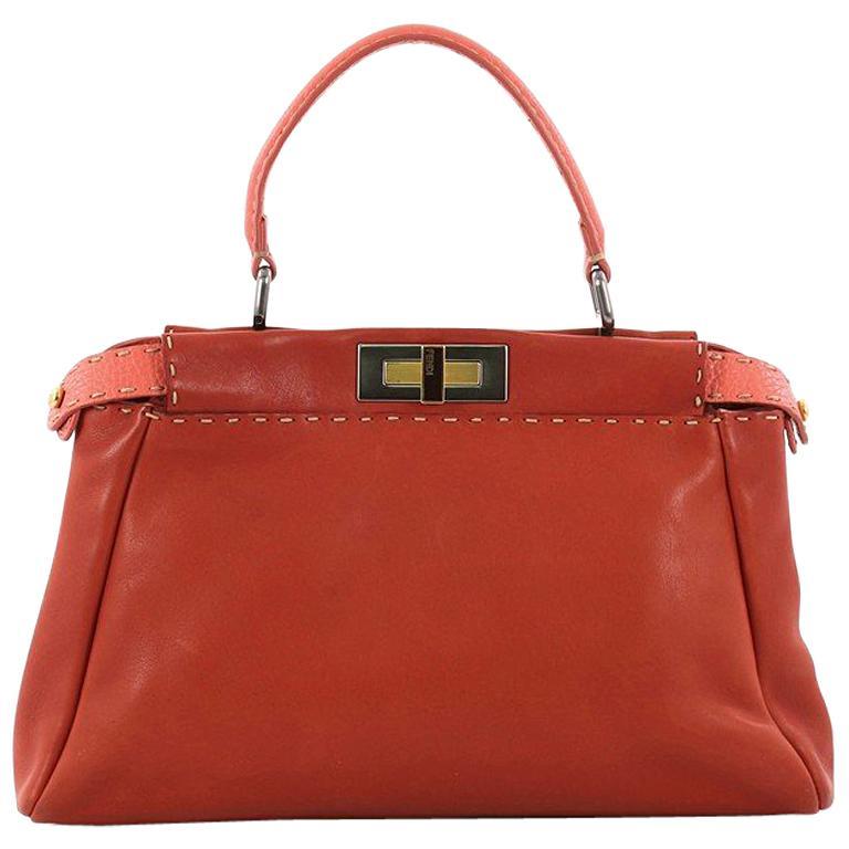 fd98a074f0cf Fendi Selleria Peekaboo Handbag Leather Regular For Sale at 1stdibs