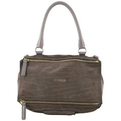 Givenchy Pandora Bag Crocodile Embossed Suede Medium