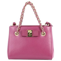 Salvatore Ferragamo Melike Tote Saffiano Leather Mini