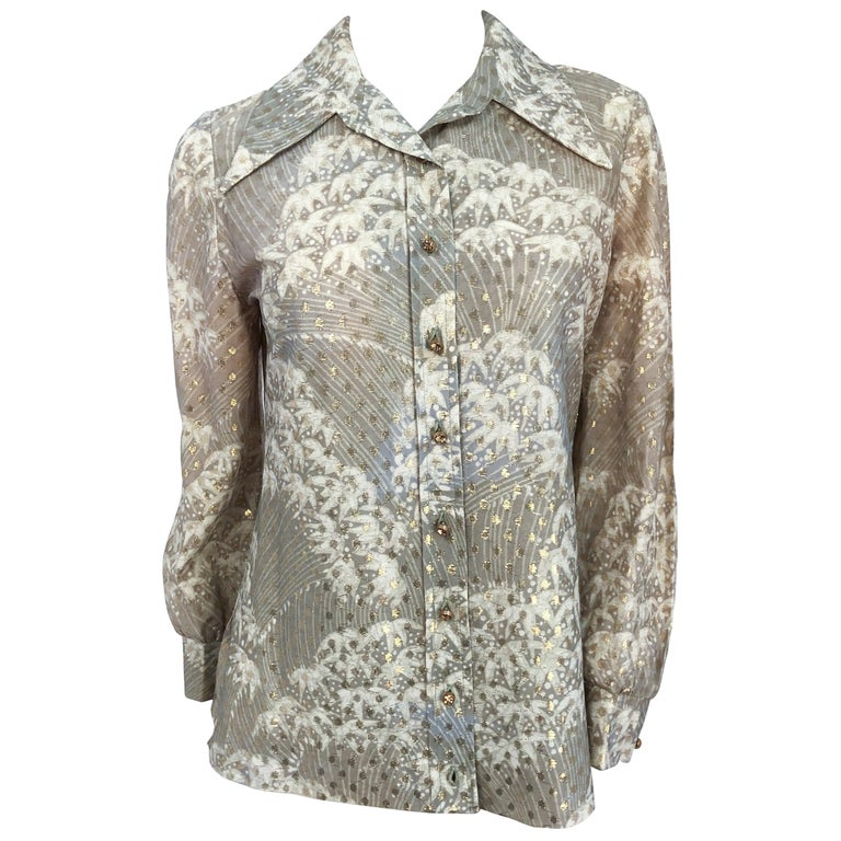 1970s I. Magnin Printed Shirt