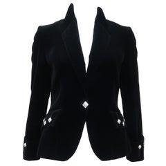 The Scotch House Vintage Black Velvet Scottish Kilt Style Jacket