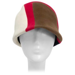 1960s Caroline Mod Hat With Geometric Pattern