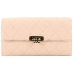 Chanel Golden Class Wallet Quilted Caviar