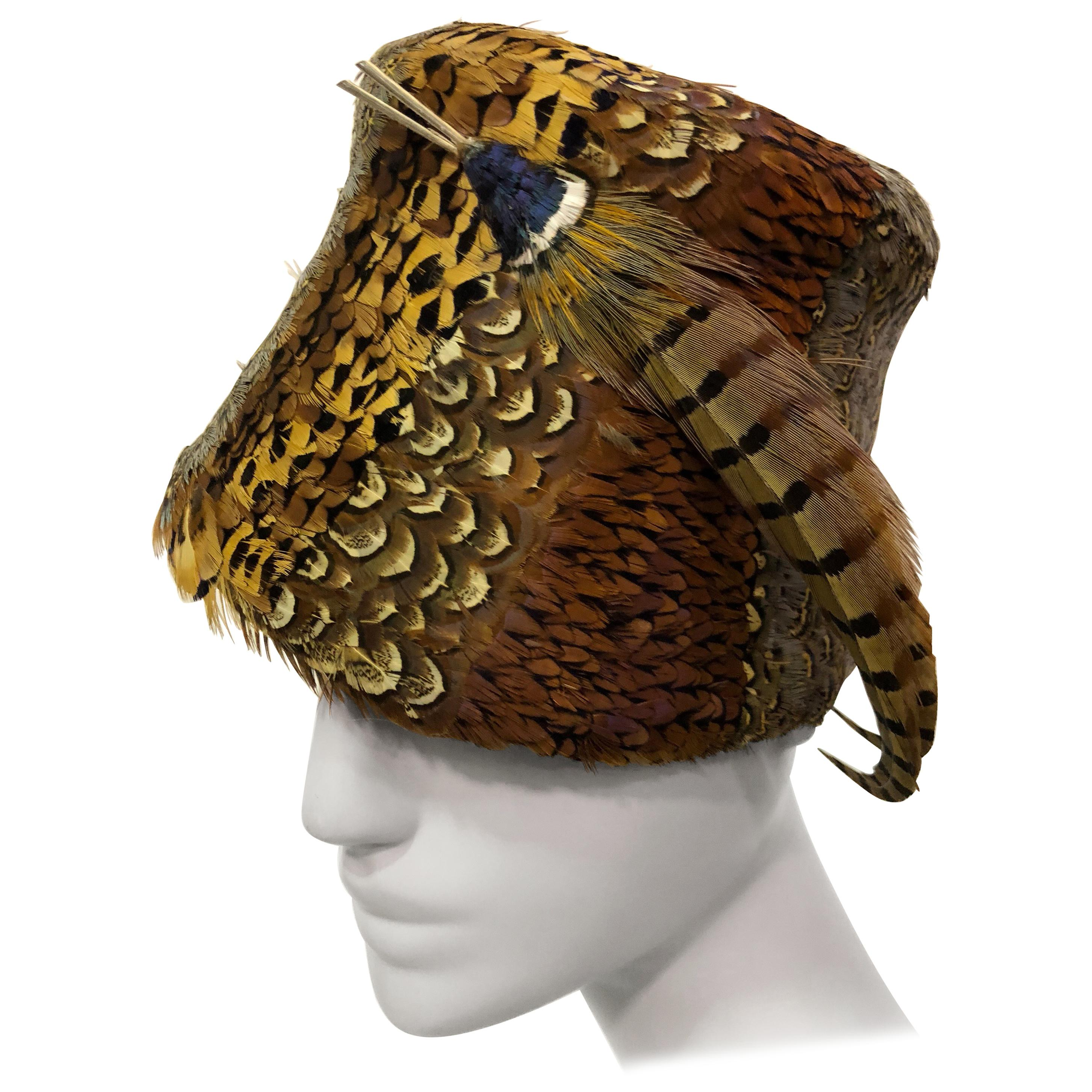 a639e6a2886 Pheasant feather hat in brilliant colors custom made in san francisco at  stdibs jpg 2906x2906 Feather