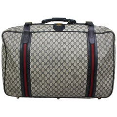"Gucci Guccissima Canvas & Leather Luggage Suitcase, c. 1980's, 16"" H x 27""W"