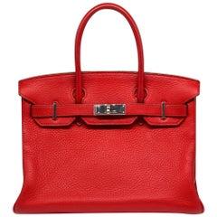 Hermes Vermilion 30cm Birkin Bag